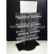Jewellery Shop Counter Top Werbemittel Großhandel Luxus Drehen Acryl Schmuck Display Sets