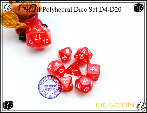 Small Polyhedral Dice Set D4-D20-3
