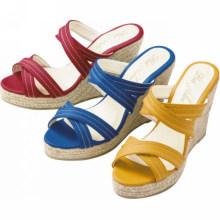 Fatory direto verão sapatos mulheres cunha sapatos chinelos sandália