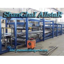 Línea de producción de alta calidad SP-9 Z Lock EPS y lana de roca Panel de emparedado maquinaria/z cerradura sandwich panel