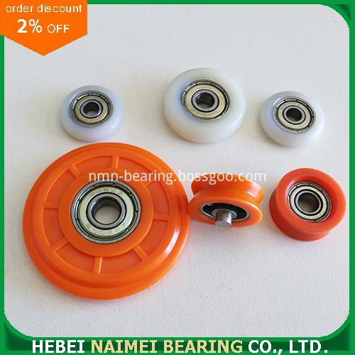 Convex plastic roller
