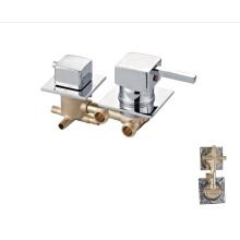 Factory hot sale 3 /4/5 Function square handle brass bathroom taps  shower panel faucet