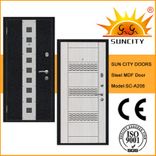 Русский стиль деревянная стальная дверь с МДФ (СК-А206)