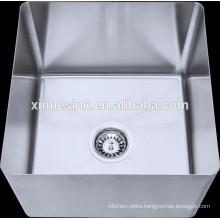 Fabricated Handmade Bowl for Compartment Sink, Stainless Steel Compartment Sink with Unit