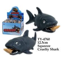 Смешные Squeeze Жестокость Игрушка акулы