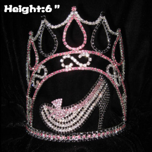6inch Heiht Crystal Pageant High Heel Queen Crowns