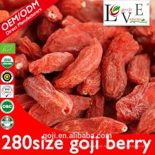 Padrão da UE Ningxia goji berry com baixo teor de açúcar