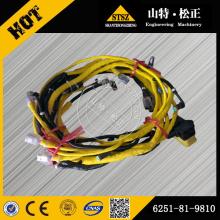 Pièces d'excavatrice du faisceau de câbles Komatsu PC450-8 6251-81-9810