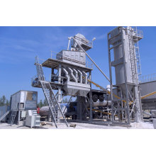 Стационарный асфальтобетонный завод 120t / H со встроенной готовой корзиной