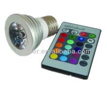 Farbe ändern 3w führte rgb Spot Licht e26 e27 gu10 LED Scheinwerfer rgb