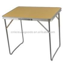 Table de camping pliante en aluminium BBQ