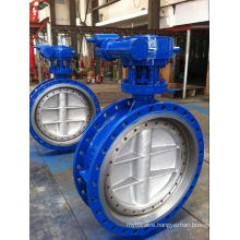 API609 Cast Steel Bi-Direction Three Eccentric Butterfly Valve