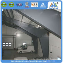 Cheap easy build steel frame prefabricated sandwich panels garage