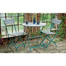 Garten Patio Metall Klapptisch Stuhl Möbel für Outdoor Hotel Rasen Hinterhof Veranda Strand