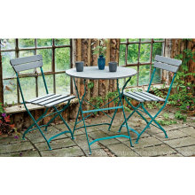 Garden Patio Metal Folding Table Chair Furniture para Outdoor Hotel Lawn Backyard Porch Beach