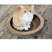 Bowl-style Cat Toy Scratcher Bed