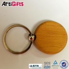 Wholesale souvenir en bois porte-clés