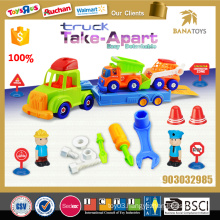 Plastic toy disassembly and assembly construction small car kids toy