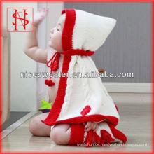 Neue Entwurfsbaby-Ponchosbaumwollstrickjacke-Babys, die Strickjackeentwürfe stricken