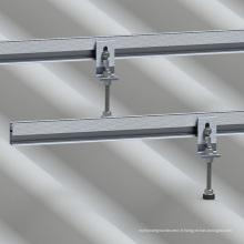 Support solaire en métal ondulé de support de toit de bâti de toit de tôle