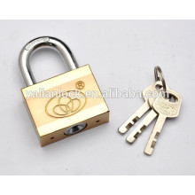 Muito barato Double Color Plated Square Tipo Padlock