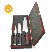 Japanese kitchen knife damascus chef knife with logo colored box
