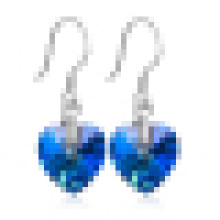 Women′s Heart of Ocean Sterling Silver Earrings
