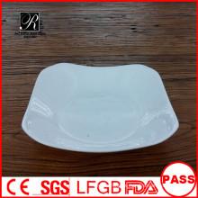 Quadratische tiefe Keramikplatte einzigartiges Abendessen / Suppe / Salatteller
