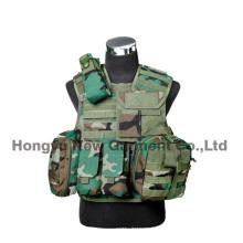 Airsoft Tactical Vest Combate militar Vest com pistola Holster (HY-V062)