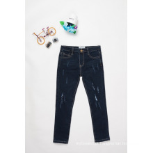 calças de brim de design para meninos / crianças meninos calça jeans casual calças jeans preto