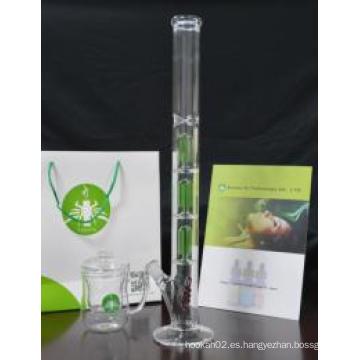 Tubo de cristal al por mayor europeo, 3 * 4 árbol del brazo por el tubo de fumar del vidrio