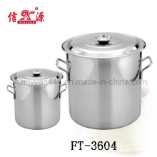 Stainless Steel Soup Bucket with Double Handle (FT-3604)