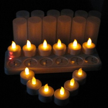 rechargeable led tea light candle
