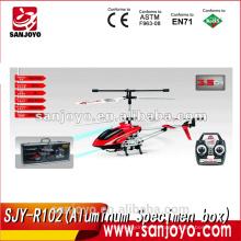 La caja de espécimen de aluminio SJY-R102 llenó el helicóptero inalámbrico del rc del metal de 3.5 canales con el girocompás