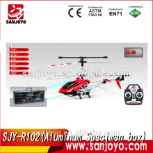 SJY-R102 aluminum specimen box packed 3.5 channel wireless metal rc helicopter with gyro