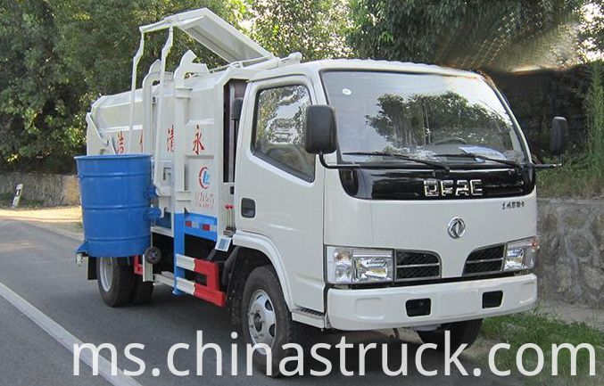 side loader waster collect truck