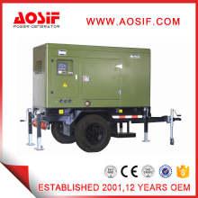 Generador móvil diesel silencioso verde 40kw 50kVA