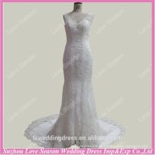 RP0039 Imagens reais tiras de renda rendas de sereia diamodns trem vestido de casamento feito sob encomenda imagem de amostra real vestido de noiva