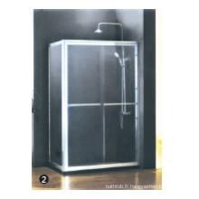 Porte de douche à charnière continue en verre trempé