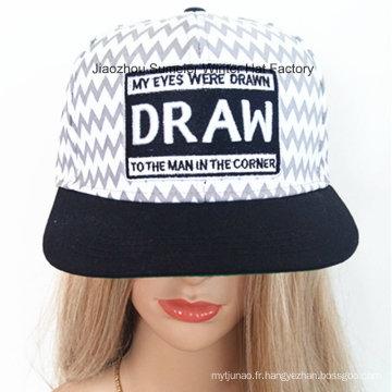 Chapeau brodé par chapeau de motif Chapeau brodé par chapeau de mode de chapeau de hip-hop