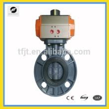 CWX-actuador neumático válvula oblea tipo válvulas de mariposa neumáticas eléctricas sanitarias