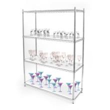 Multi Tiers Almacenamiento decorativo Wire Shelving, estantes de alambre, estante de almacenamiento (HD186086A4C)