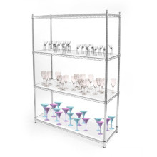 Multi Tiers Decorative Storage Wire Shelving, Wire Shelves, Storage Shelf (HD186086A4C)