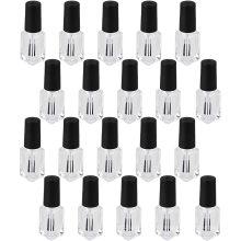 Custom empty 5ml 8ml 9ml 10ml 12ml 15ml clear square Nail polish glass bottle with brush