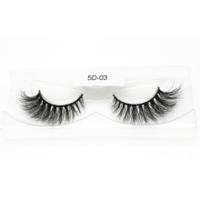 Custom Wholesale Natural Looking High Quality 3D 5D 25mm Real Mink Strip Eyelashes