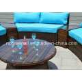 Semi-Round Rattan Outdoor Sectional Garden Wicker Furniture