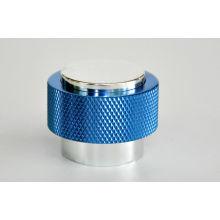 Bc-mc-001 Zinc Alloys Silkscreen Printing Metal Screw Caps For Aluminum Collar