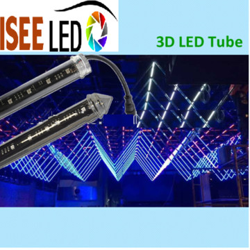 DMX 16 Pixelsal 3D Tube for nightclub