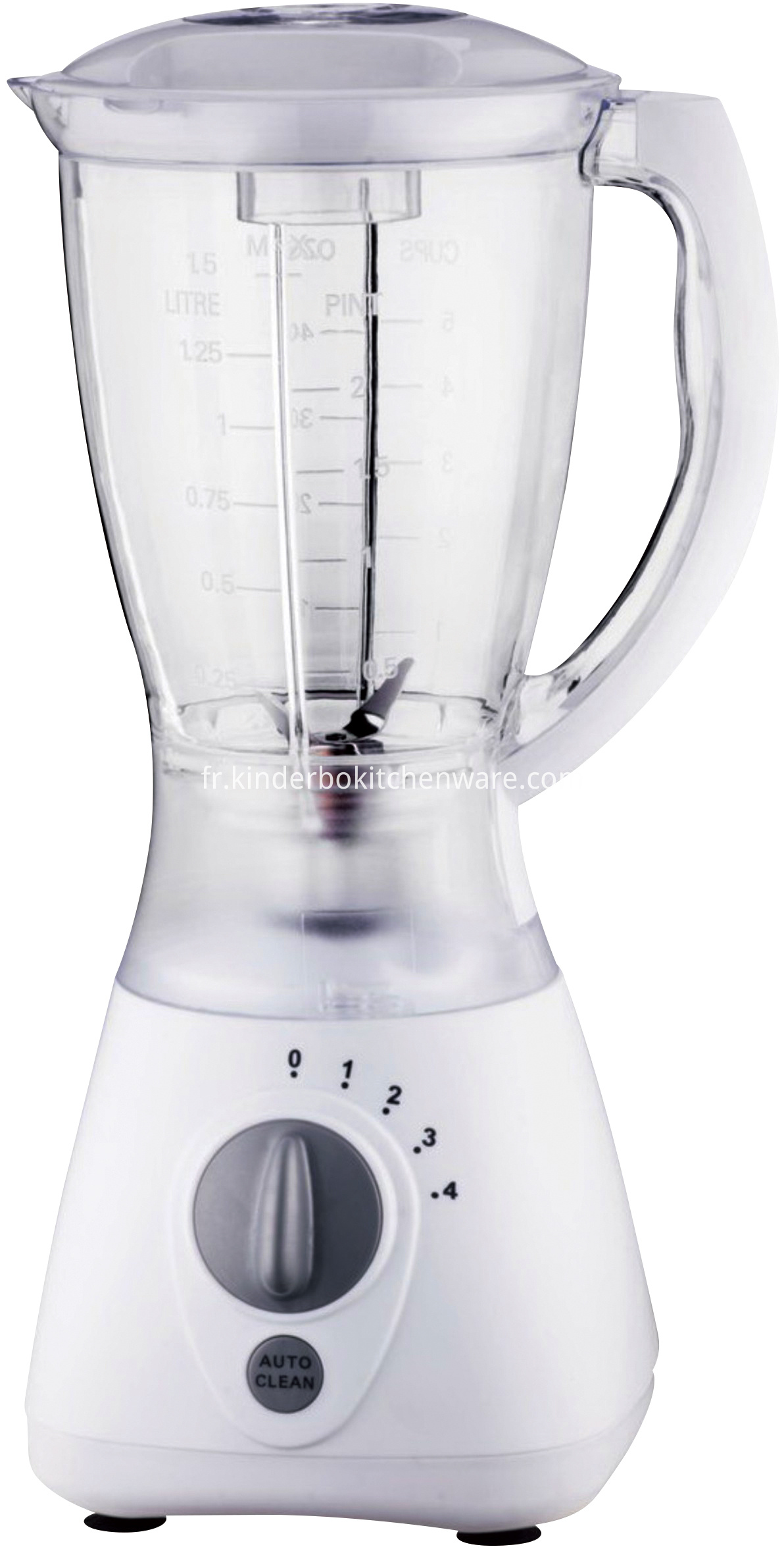Juicer Blender with 4 Speeds and Pulse Function
