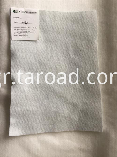 staple fibers needle punched Non woven geotextile